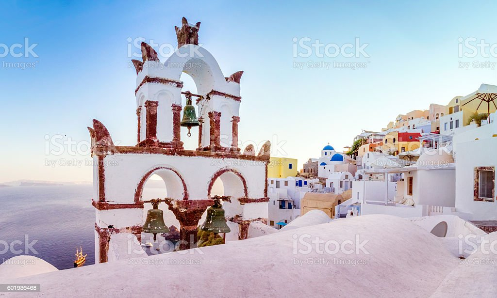 The Bell Tower of Santorini stock photo