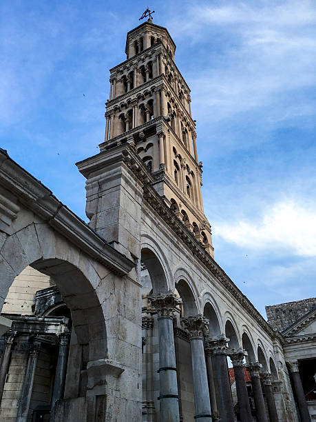 The Bell Tower of Split Old Town, Croatia ストックフォト