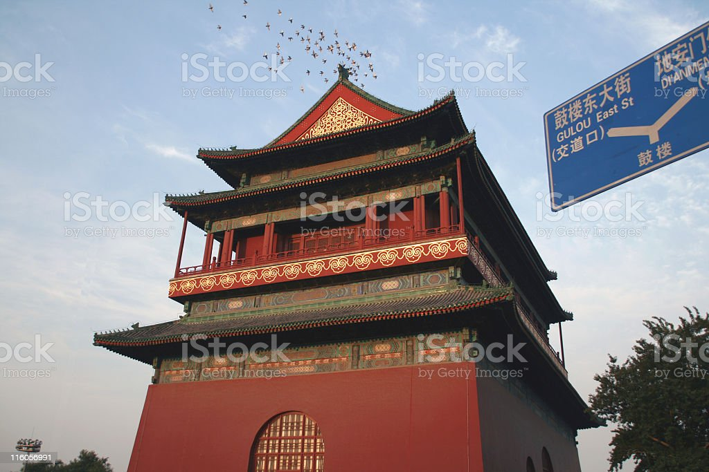The Bell Tower (Beijing) stock photo
