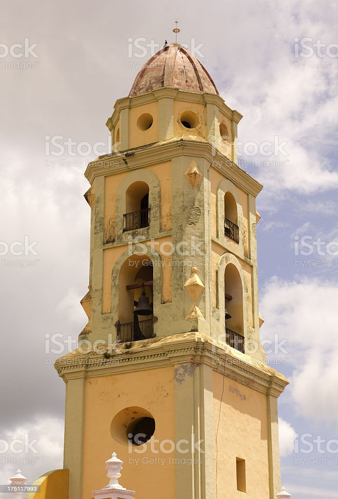 The bell tower. Symbol of Trinidad, Cuba royalty-free stock photo
