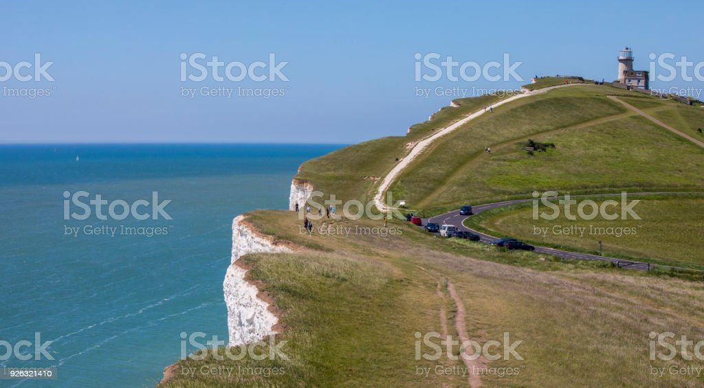 The Belle Tout Lighthouse on the East Sussex Coast, UK stock photo