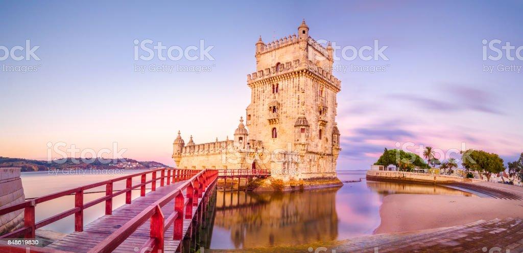 The Belém Tower stock photo