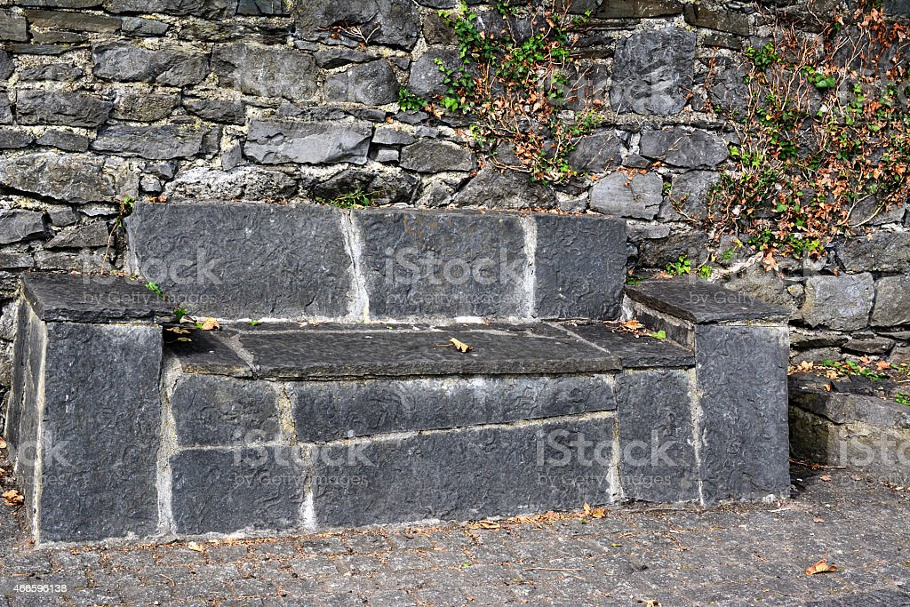 The Bench, Carlingford, Co Louth, Republic of Ireland stock photo