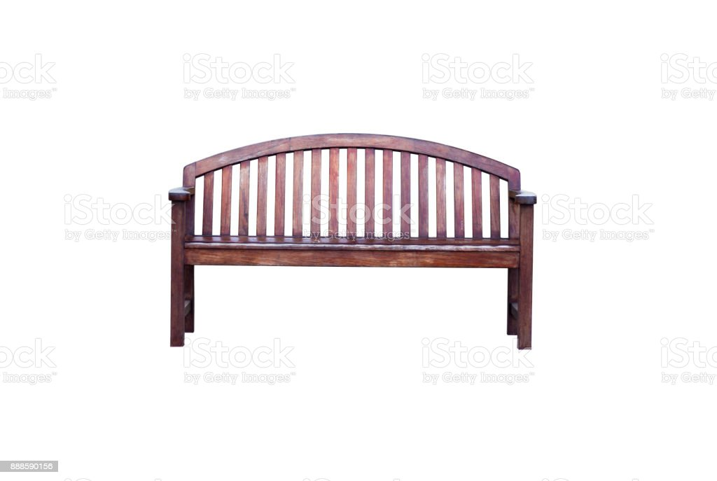 The bench with backrest and Clipping Path stock photo