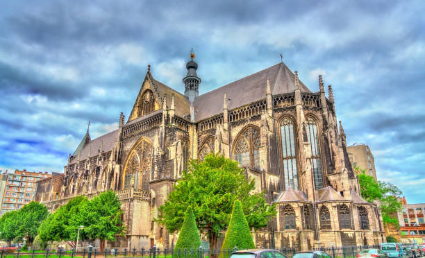 The Benedictine Abbey of St. James the Lesser in Liege, Belgium The Benedictine Abbey of St. James the Lesser in Liege - Belgium lulik stock pictures, royalty-free photos & images