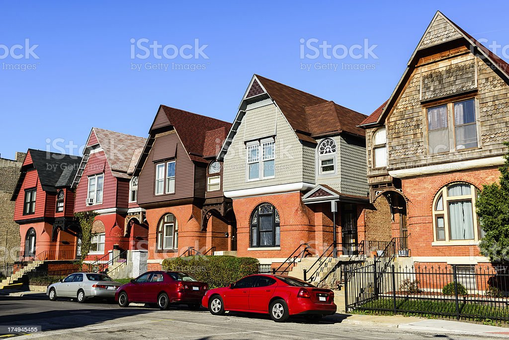 The Berkeley Cottages royalty-free stock photo