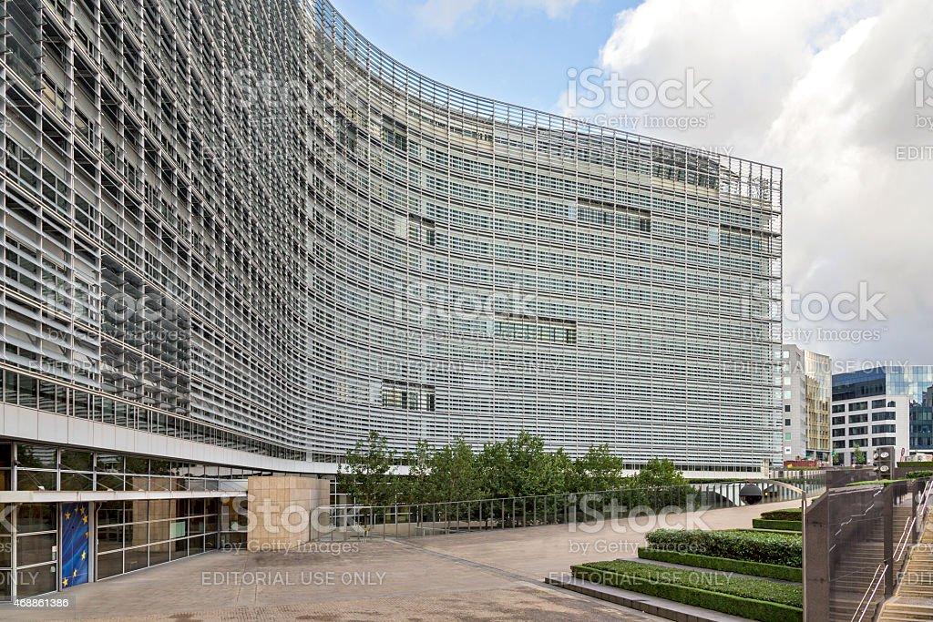 The Berlaymont office building stock photo