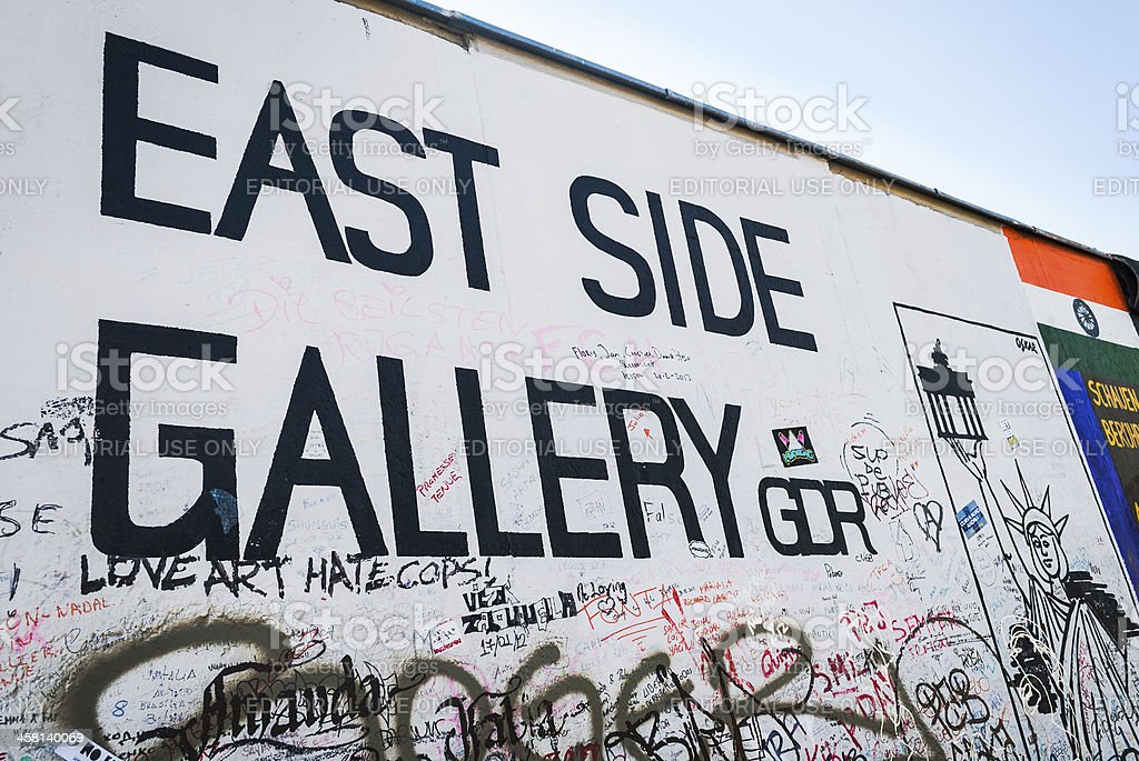 The Berlin Wall East Side Gallery stock photo