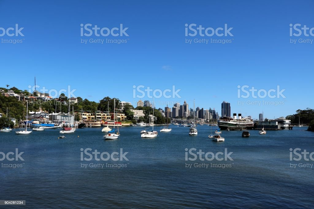 The Berrys Bay in Sydney, New South Wales Australia stock photo