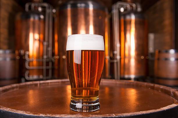 La migliore birra in città. - foto stock