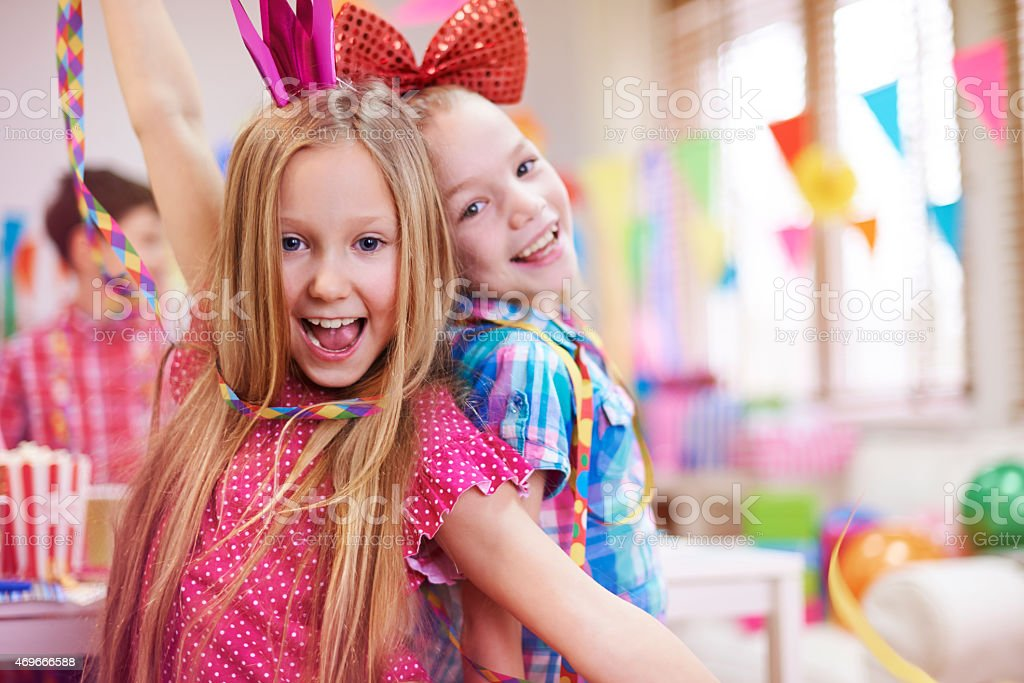 The best birthday party ever! stock photo