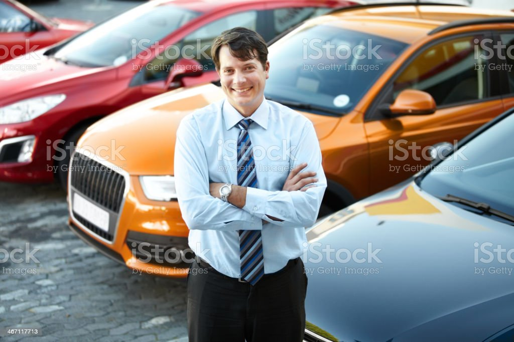 The best car dealer in town stock photo