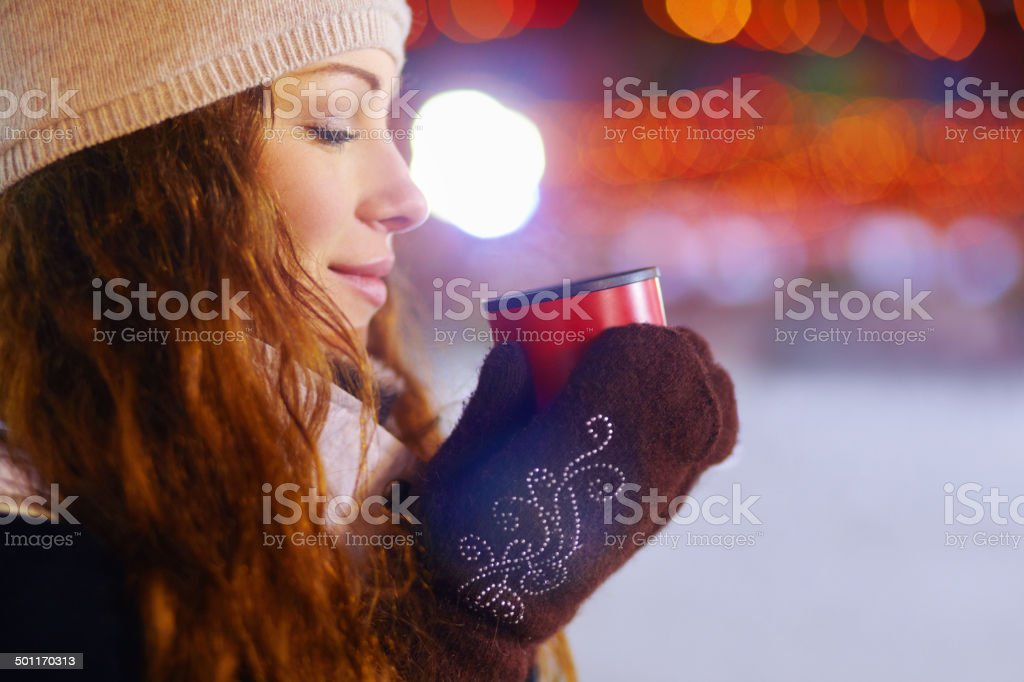 The best comfort on a cold day stock photo
