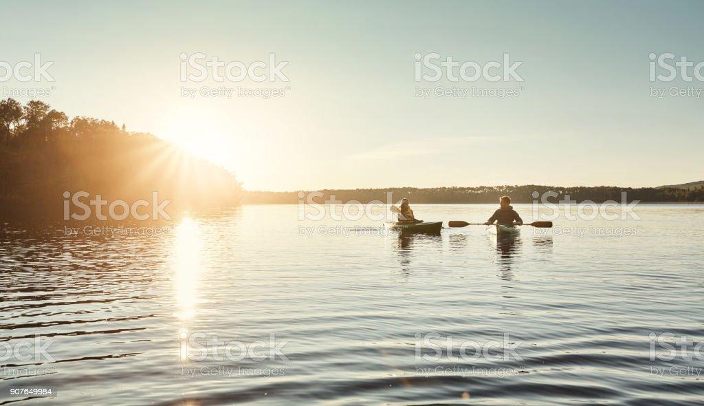 Les meilleurs jours sont dépensés en kayak - Photo