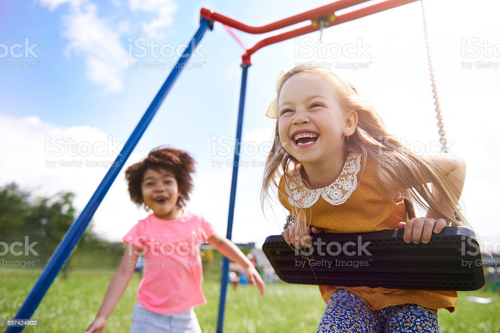 The best friends playing together stock photo