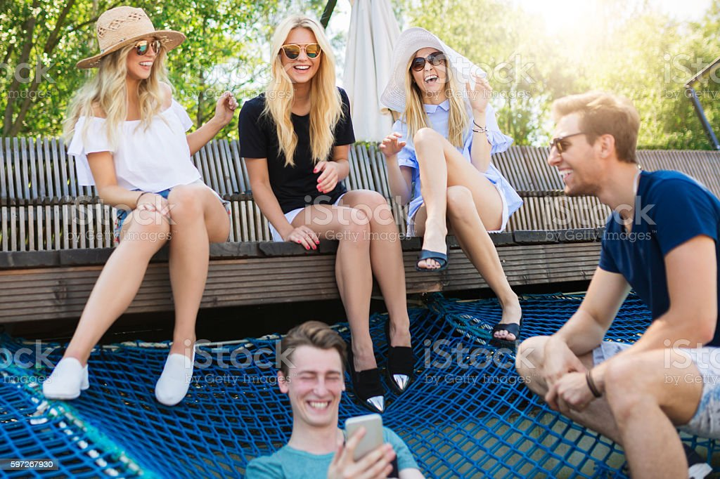 The best fun is always with best friends royalty-free stock photo