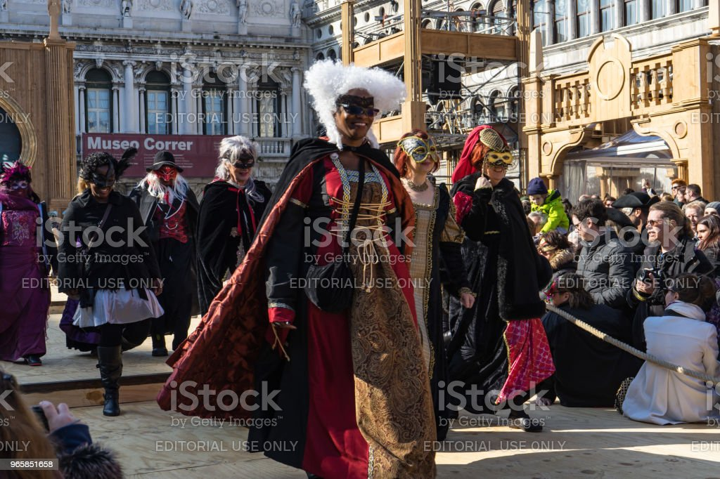 The Best Masked Costume Contest during Venice Carnival, Venice, Italy - Royalty-free Carnival - Celebration Event Stock Photo