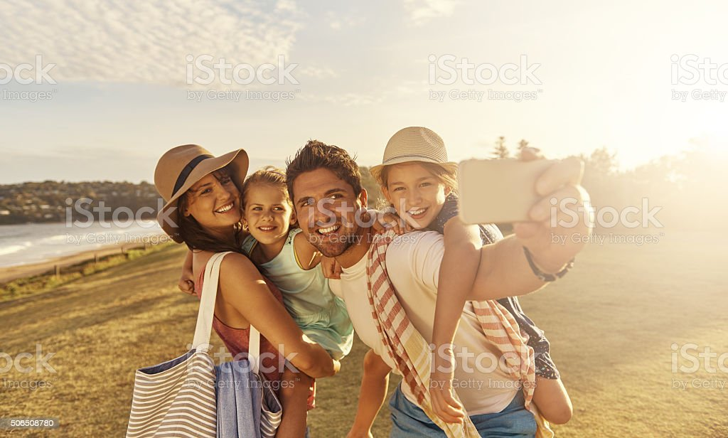 The best memories are made on the beach stock photo