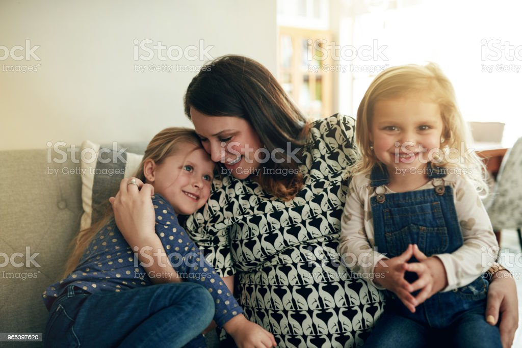 The best moments are spent with Mom royalty-free stock photo