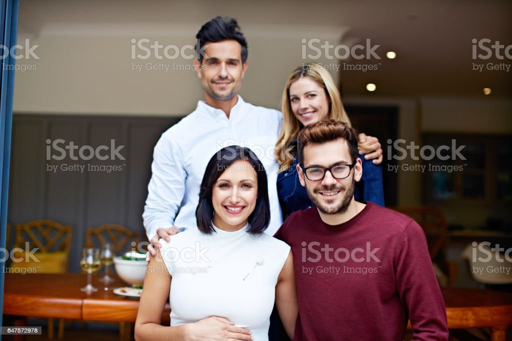 The best of friends stock photo