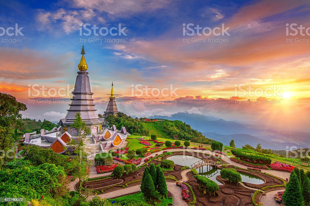 The best of landscape in Chiang mai. Inthanon mountain. - foto de stock