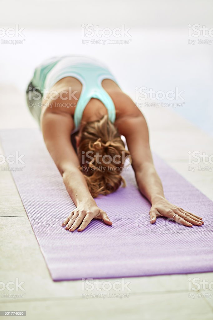 The best posture for relaxation stock photo