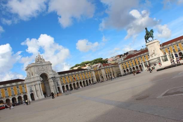 La mejor plaza de Lisboa - foto de stock