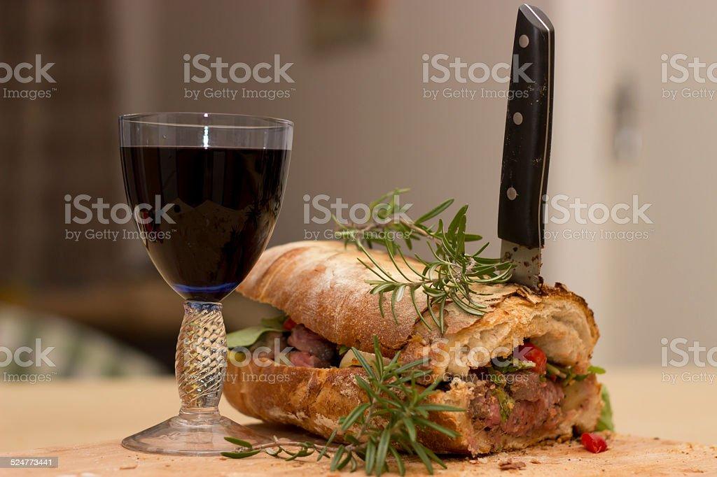 The best steak sandwich in town stock photo