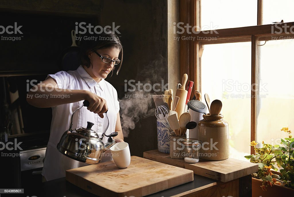 The best thing after a long day stock photo