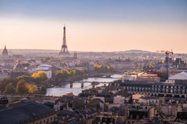 the best view of paris - париж франция стоковые фото и изображения