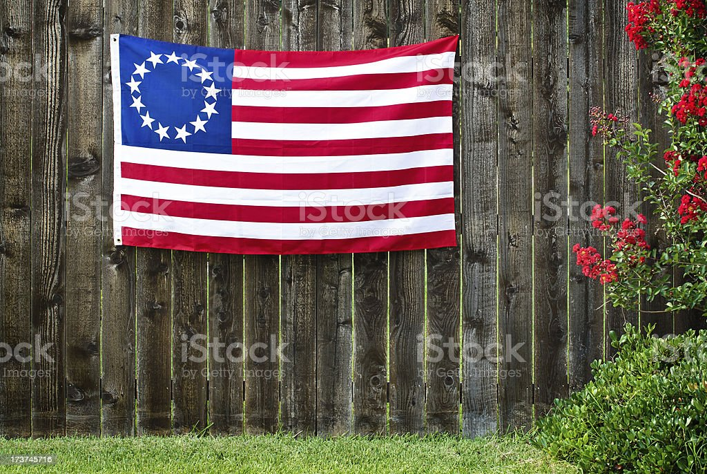 The Betsy Ross flag stock photo