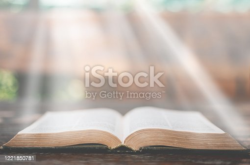 The bible on wooddesk,Concept listen the words of God