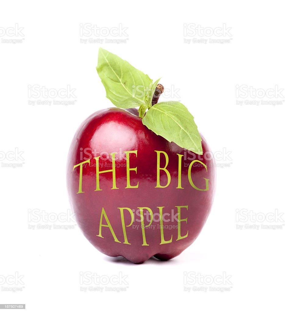 The big apple royalty-free stock photo