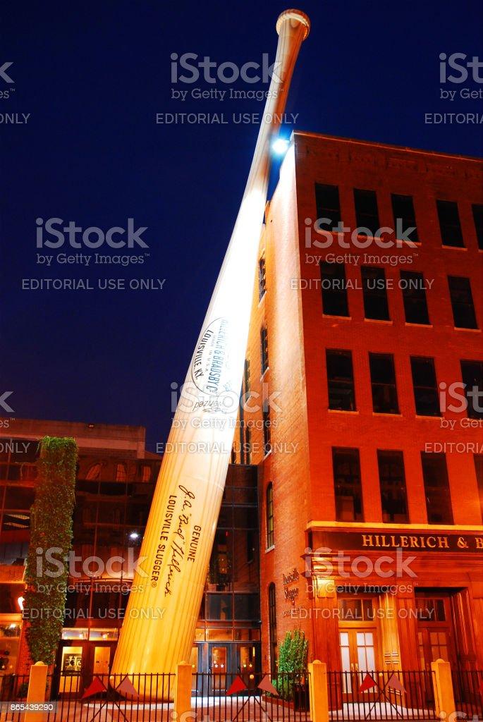 The big bat at Louisville Slugger stock photo