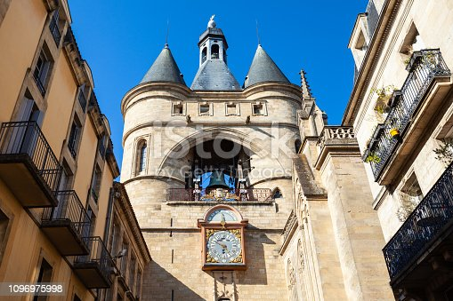 La grosse cloche or Big Bell Tower is an ancient tower in the centre of Bordeaux city in France