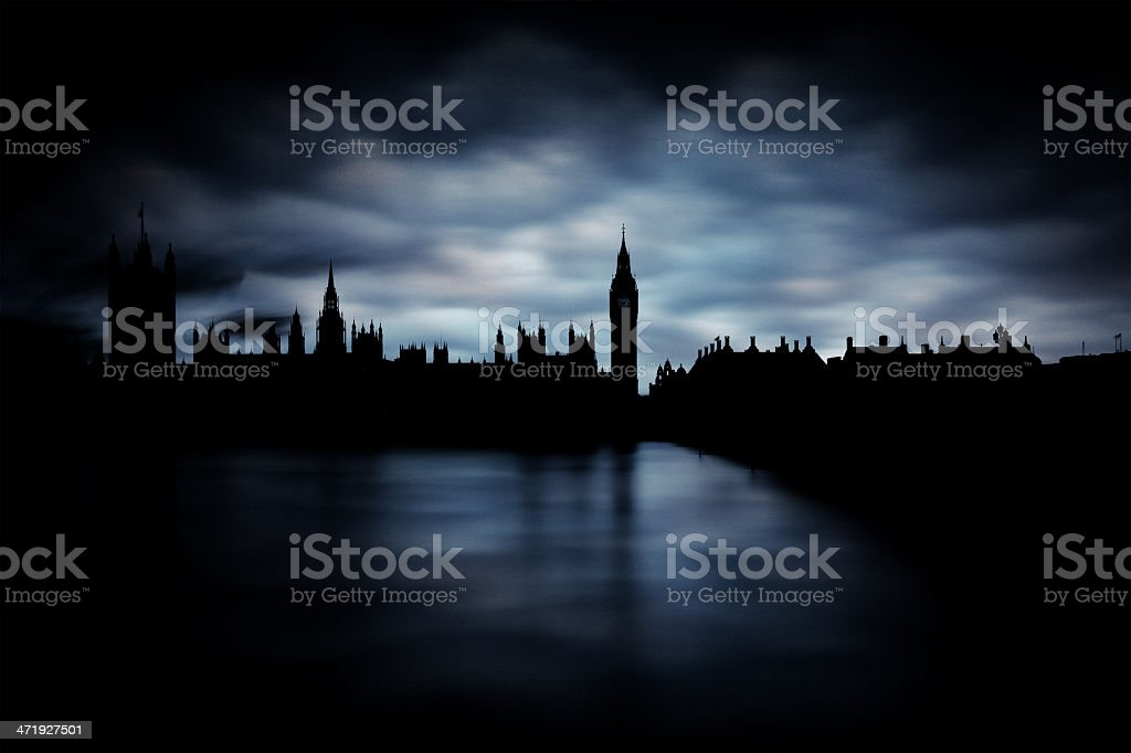 The Big Ben and parliament in London stock photo