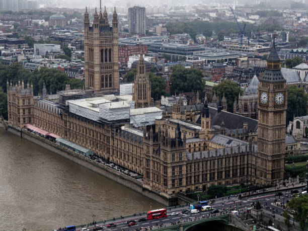 The Big Ben in London and the House of Parliament London, UK - September 22, 2019: The Big Ben in London and the House of Parliament central london stock pictures, royalty-free photos & images