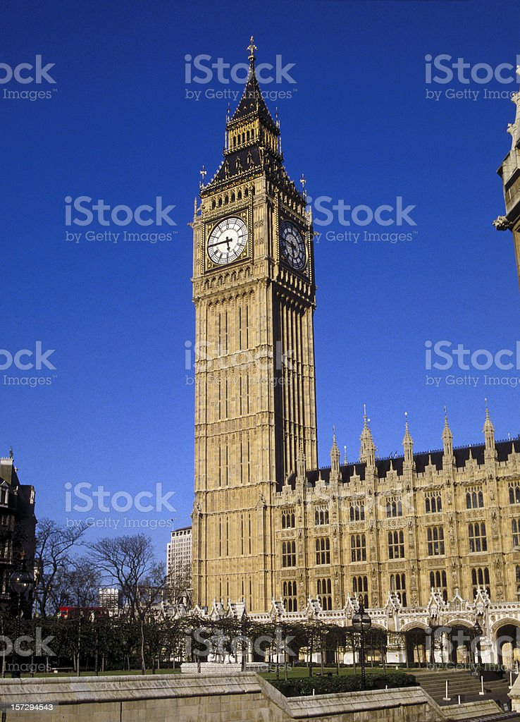 The Big Ben in London, England (UK) royalty-free stock photo
