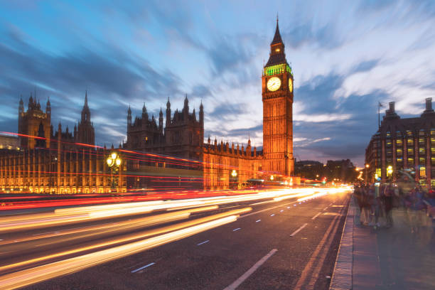 The Big Ben in London And the House of Parliament central london stock pictures, royalty-free photos & images