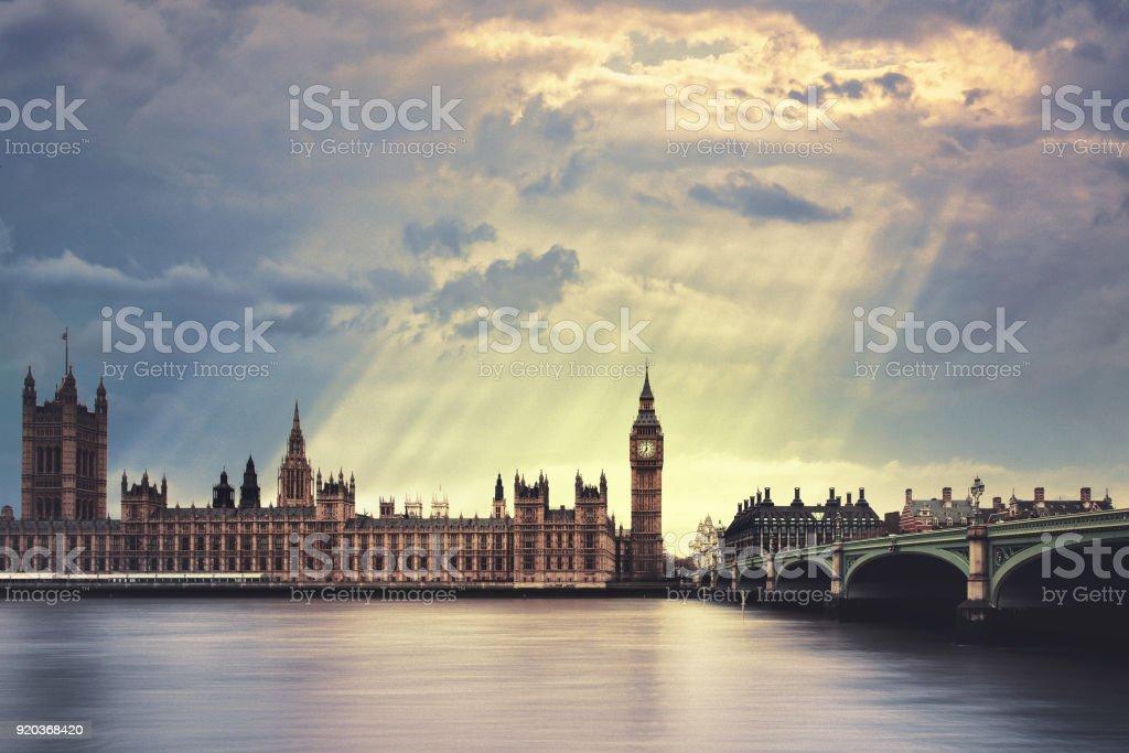 The Big Ben in London stock photo