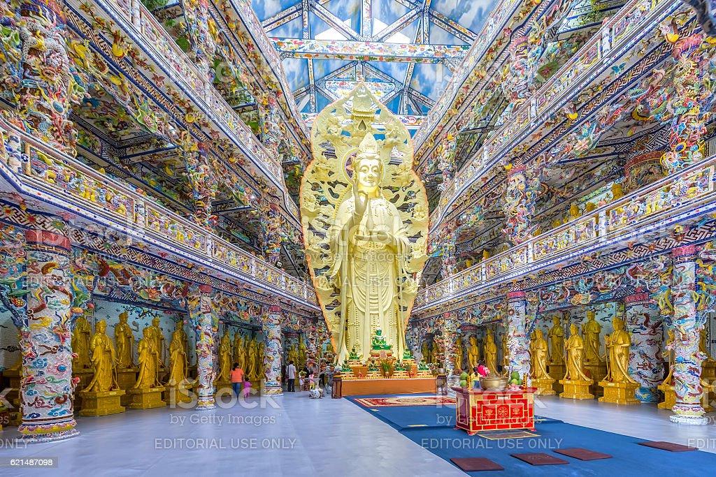 The big buddha figure in main temple amazing pagoda foto stock royalty-free