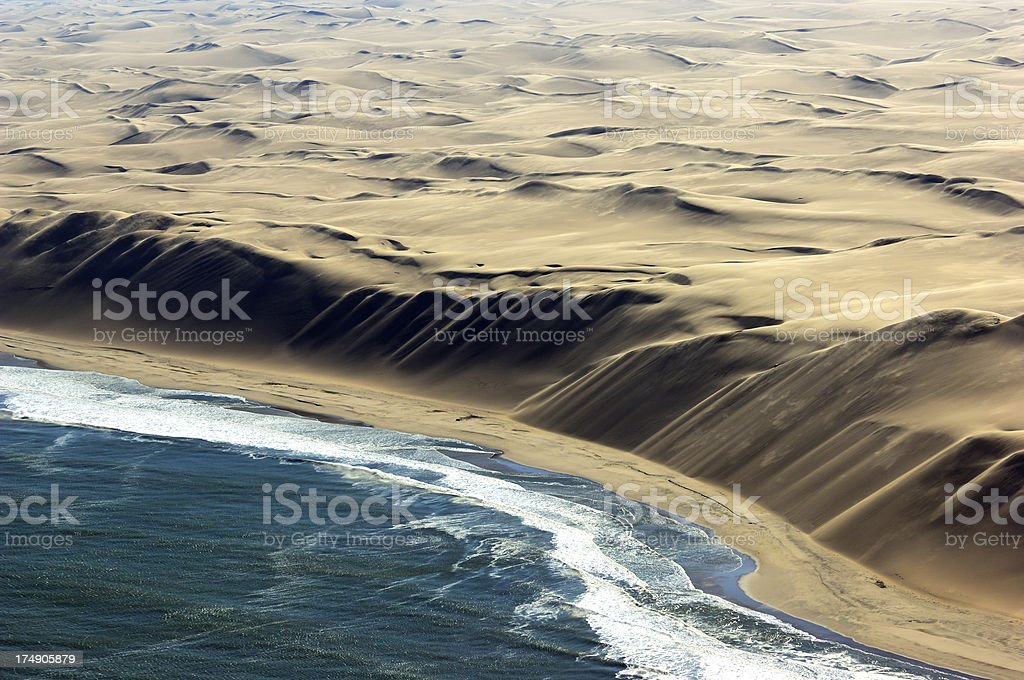 The big Dunes at Atlantic Ocean stock photo