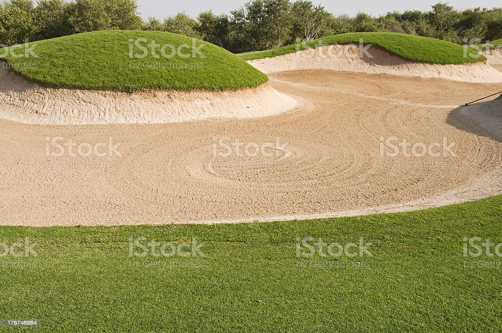 The big golf bunker stock photo