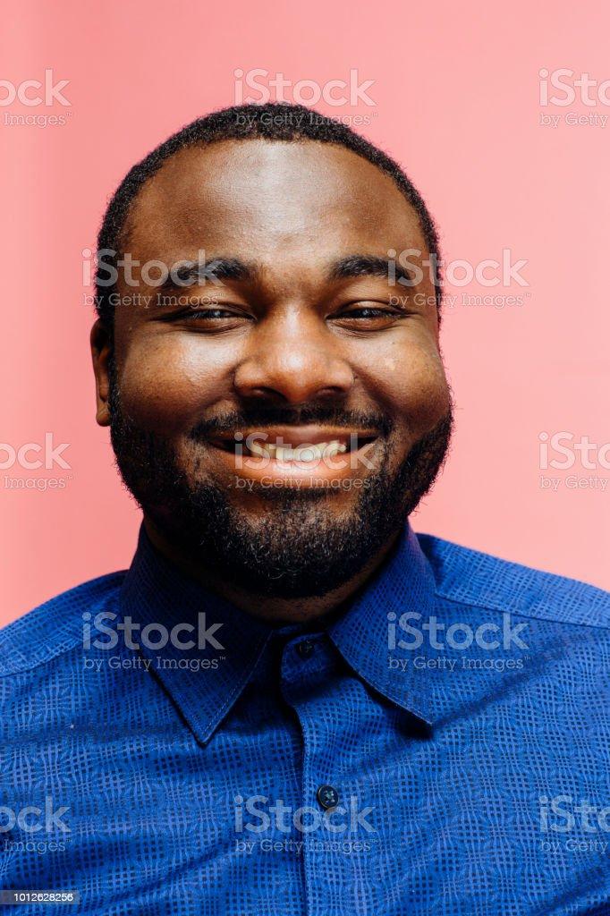 The big happy smile/ Portrait of a very happy man stock photo