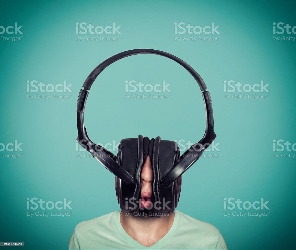 The big headphones stock photo