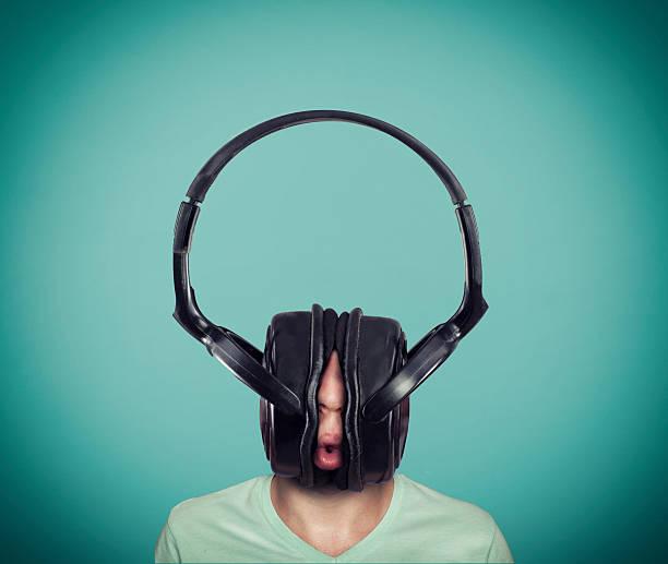 The big headphones stock photo