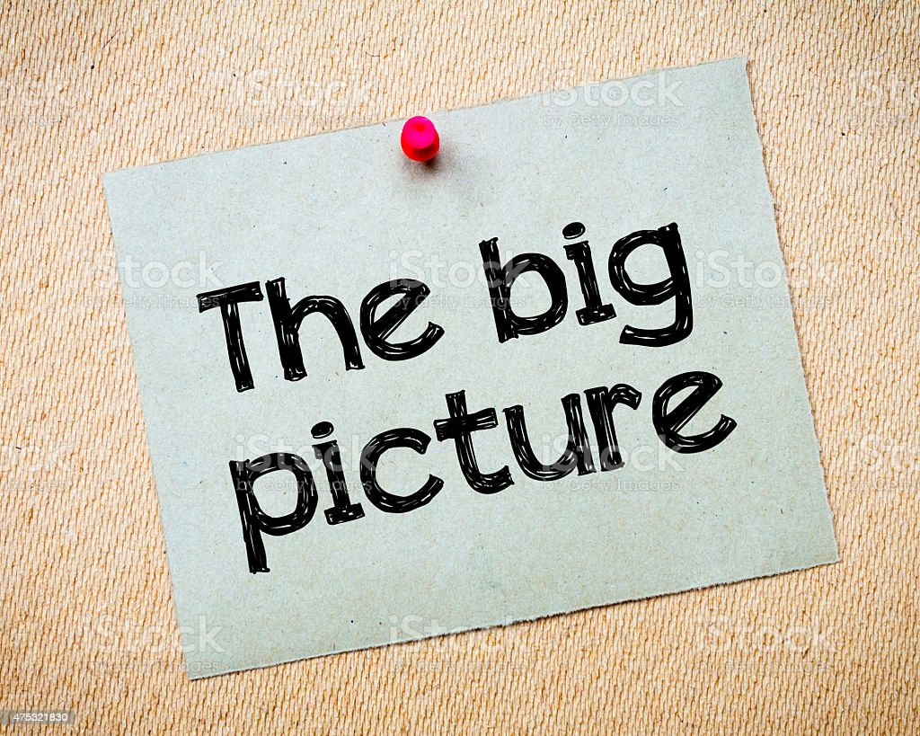 The big picture stock photo