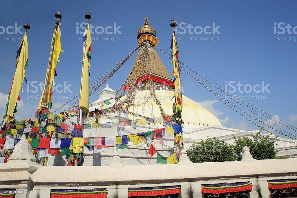 The big stupa of Boudhanath-Bodhnath. Kathamandu-Nepal. 0305 royalty-free stock photo