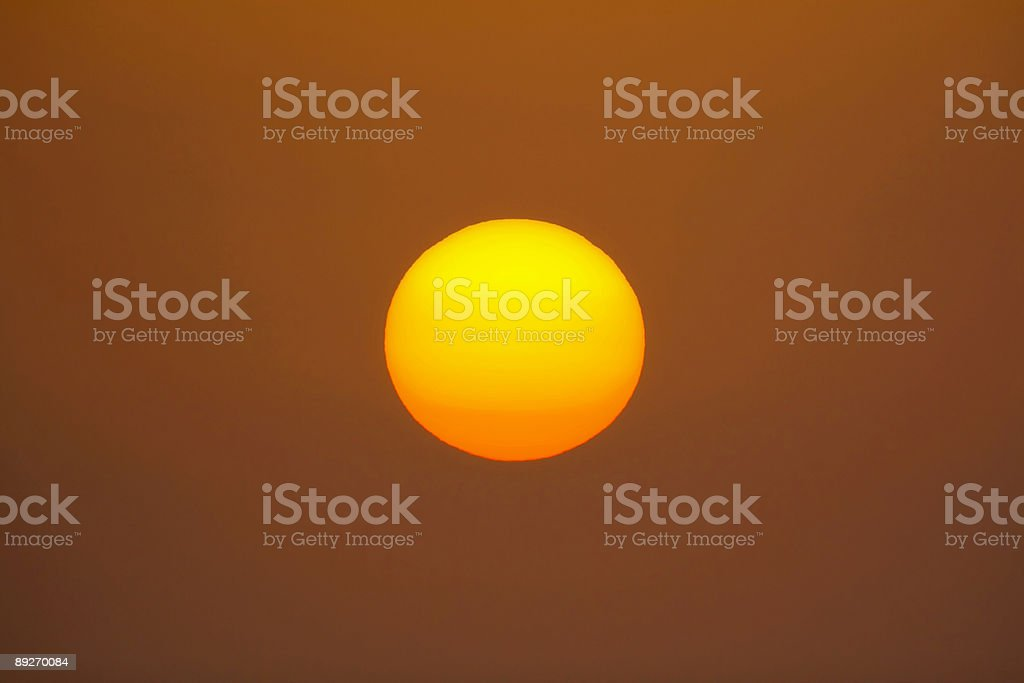 The big Sun stock photo