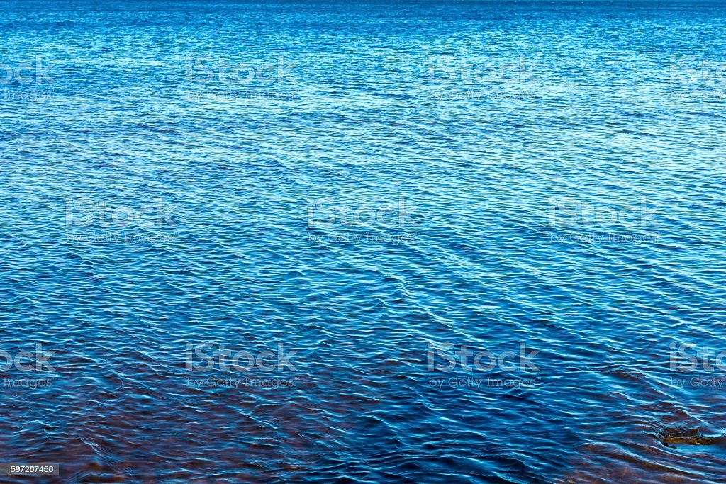 the big textured water surface of bright blue color Lizenzfreies stock-foto